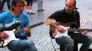 Musicians Sultans Of Swing by Dire Straits, Piazza Navona, Rome, Italy, May 10, 2015 - song lyrics sultans of swing dire straits