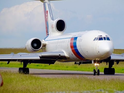 Slovak Government – Tupolev TU-154 | Close-up and Take Off at Luxembourg Airport
