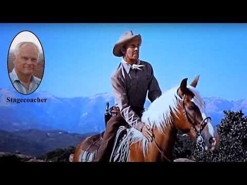 Randolph Scott on his favorite movie horse.