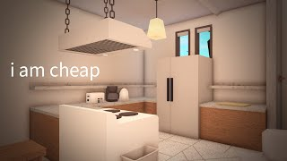 building a house using the CHEAPEST ITEMS only (bloxburg)