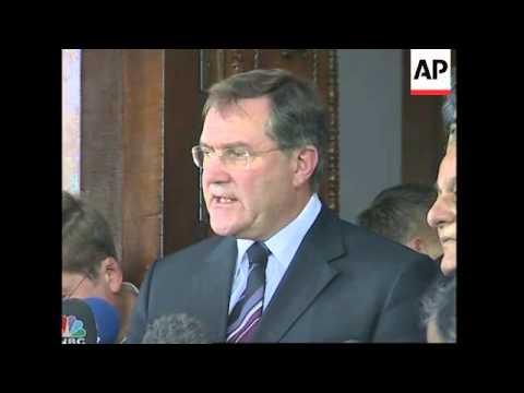German Defence minister visit, comment on Afghanistan