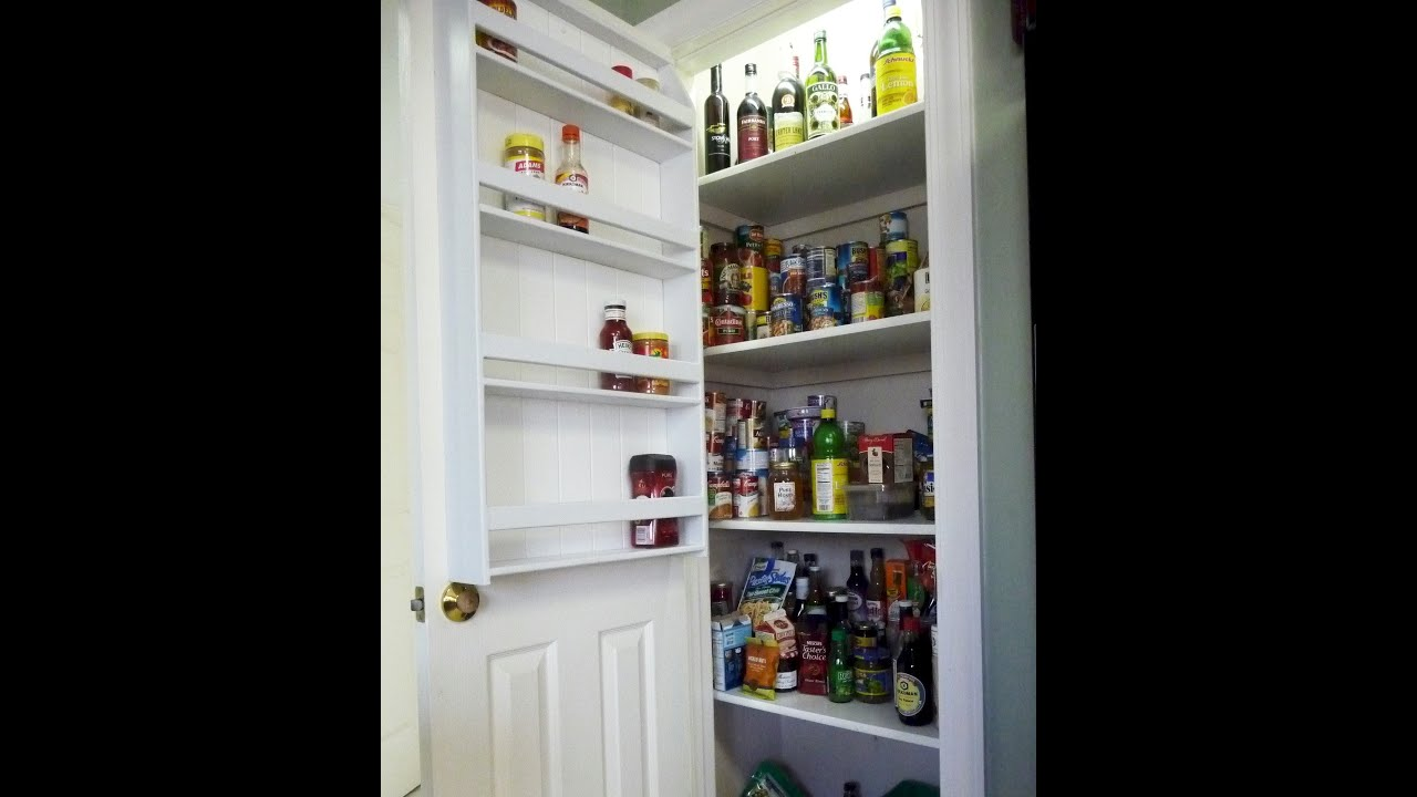 How to Make a Pantry Door Spice Rack YouTube – Over Cabinet Door Storage