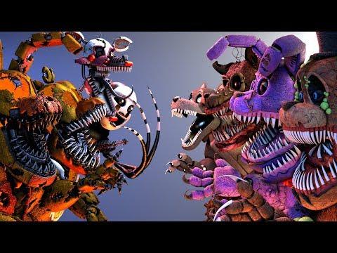 [FNaF SFM] Twisted Animatronics VS. Jack-O FNAF's (Five Nights At Freddy's Animation)