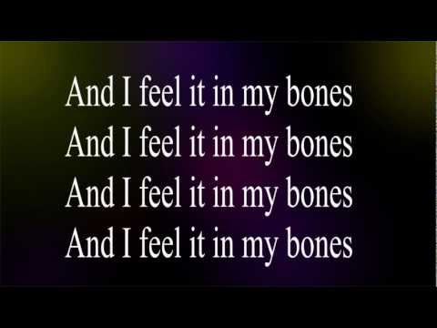 The Killers  - I Feel It In My Bones - Lyric's Video