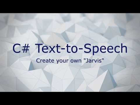 """C# """"Jarvis"""" Program – using  NET text-to-speech library"""