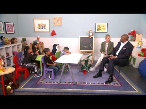 Ellen and Steve Harvey Talk to Kids