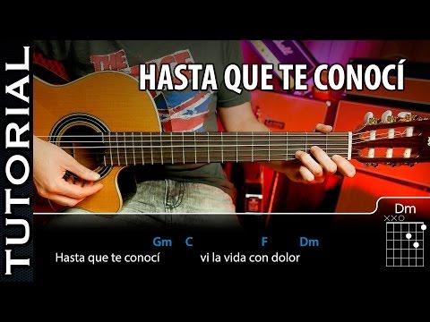 Cómo tocar Hasta Que Te Conocí - Juan Gabriel en guitarra tutorial