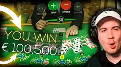 Bidule Record win 100.000 € on BlackJack - TOP 5 mega wins in casino online