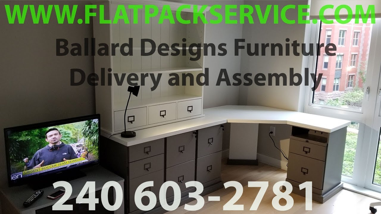 ballard designs home delivery / assembly serviceflatpack