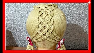 SO EASY CUTE SCHOOL  HAIRSTYLE  / Basket Braid Style / HairGlamour Styles