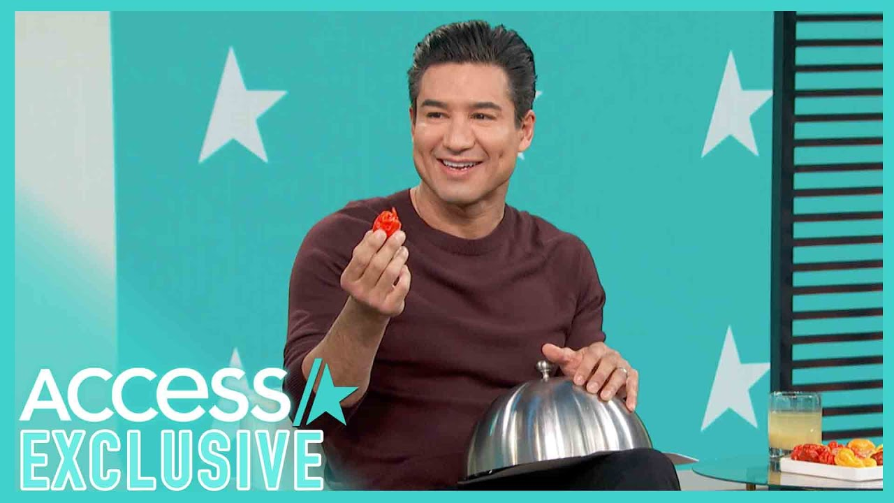 Mario Lopez Eats The Hottest Pepper In The World