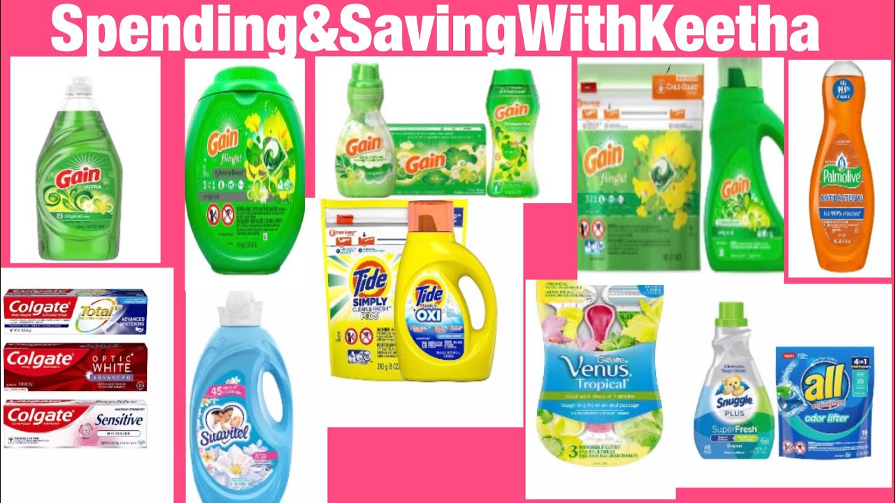 Gain Gain & More Gain/Household/Cleaning Deals With Low Out Of Pocket At Dollar General Sat Only!!