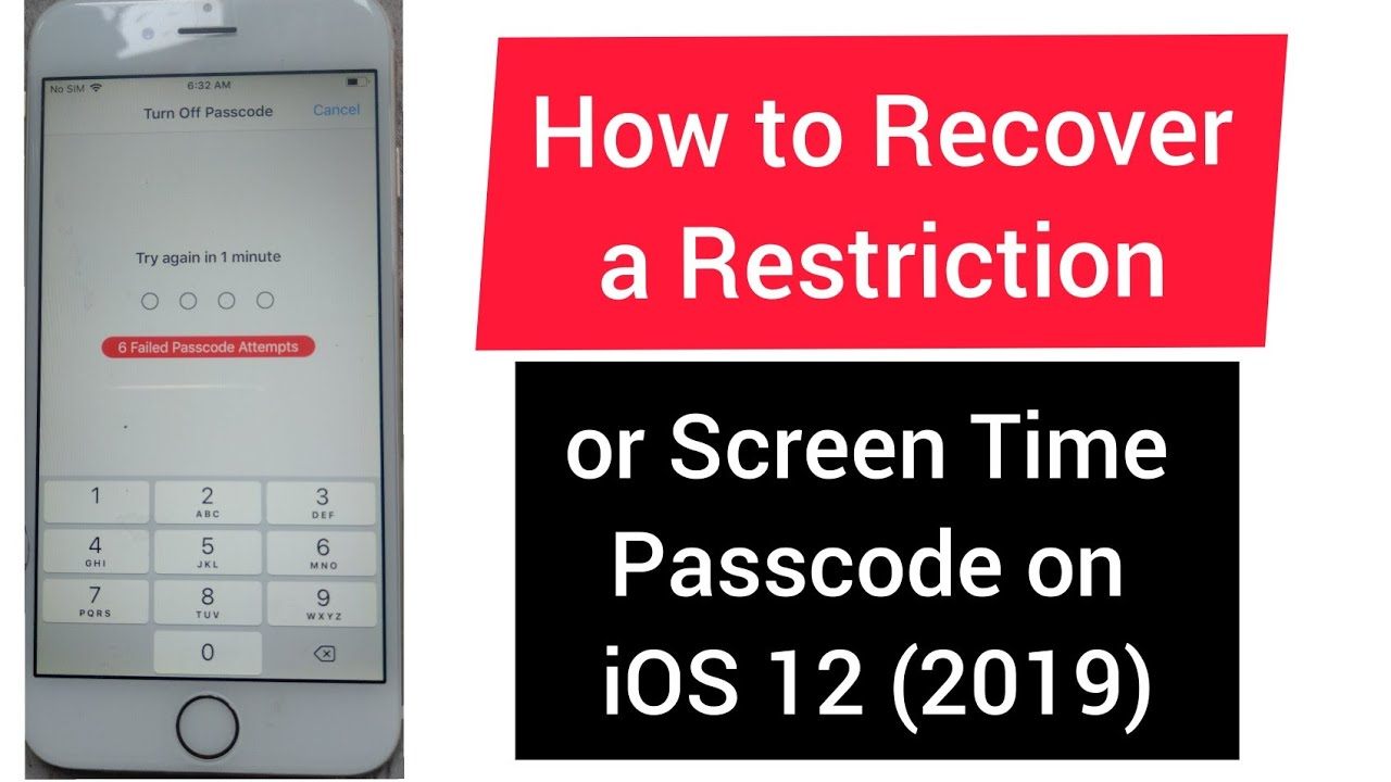 how to fix forgotten screen time passcode on ios 12 *2019*