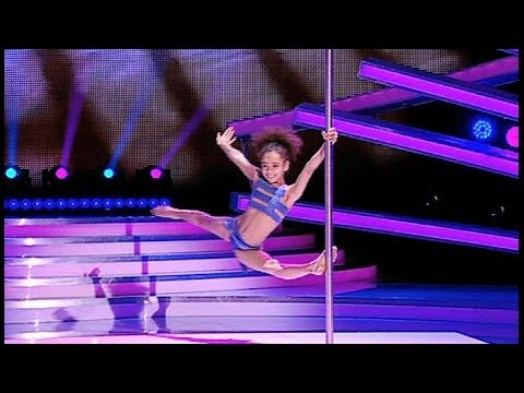 All judges shocked! 8 year old Pole Dancer...