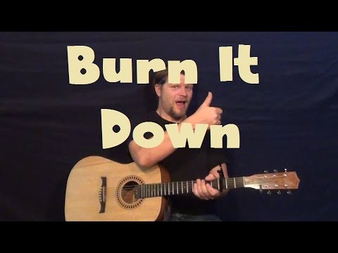 Burn It Down (Linkin Park) Easy Strum Guitar Lesson How to Play ...
