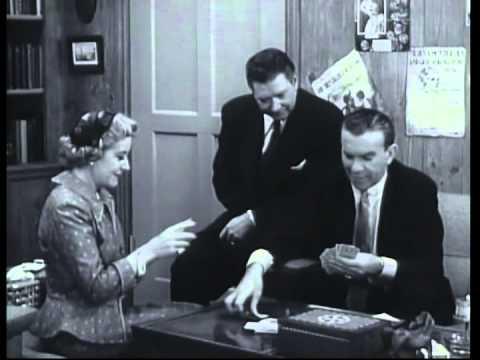 Burns and Allen - Classic Scenes #3 - Gracie humiliates George at gin rummy [clip]