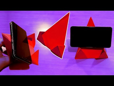 DIY - Origami Phone Stand/Holder | SIMPLE Ways to make a Mobile Stand 2019