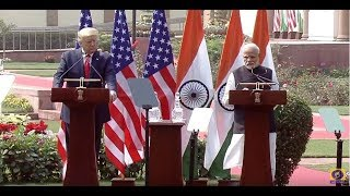 PM Narendra Modi and US President Donald Trump at Joint Press Meet