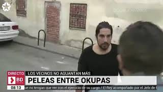 Spanish reporter near to be attacked live
