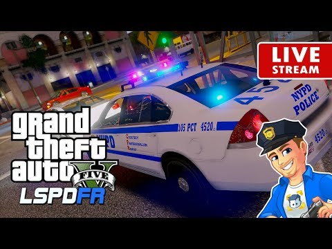 GTA 5 POLICE MOD LSPDFR LIVE New York NYPD | Road to 4K | GTA 5 LSPDFR Realistic Police Patrol