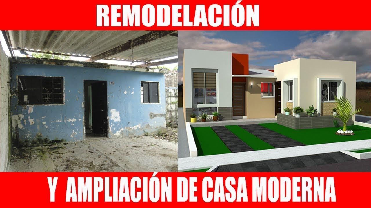 Remodelaci n de casa moderna antes y despu s youtube - Casas estrechas y largas ...