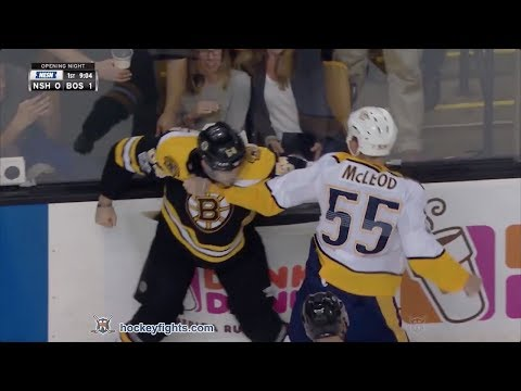 Cody McLeod vs Adam McQuaid Oct 5, 2017