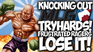 "COD BLACK OPS 3: KNOCKING OUT MLG TRYHARDS!! FRUSTRATED RAGERS LOSE IT! ""BO3 TROLLING"""