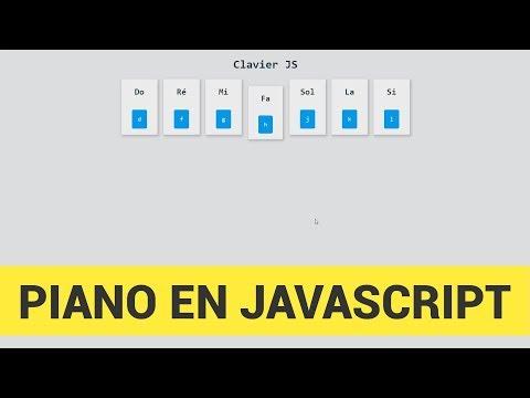 Créer un Piano en JavaScript [365 Jours De WebDev]