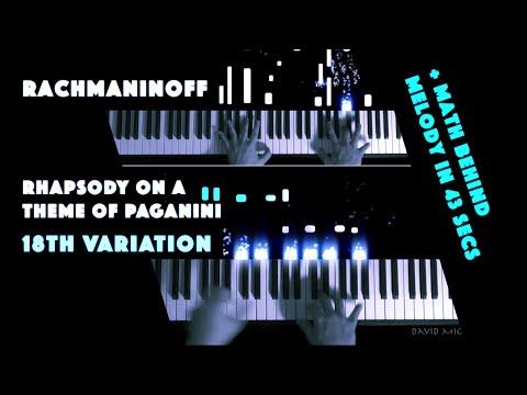 Rachmaninoff - 18th Variation, Rhapsody on a Theme of Paganini | + math behind melody in 43 secs mp3