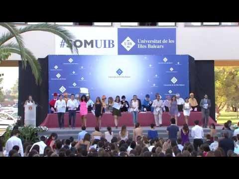 Cerimònia de graduació de la UIB de l'any acadèmic 2012-13