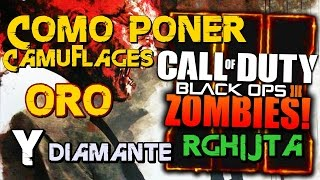 poner Camuflaje de oro y de diamante COD Black ops 3 zombies Xbox 360 RGH JTA