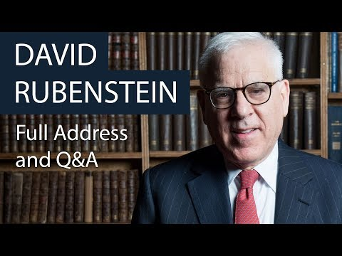 David Rubenstein | Full Address and Q&A | Oxford Union