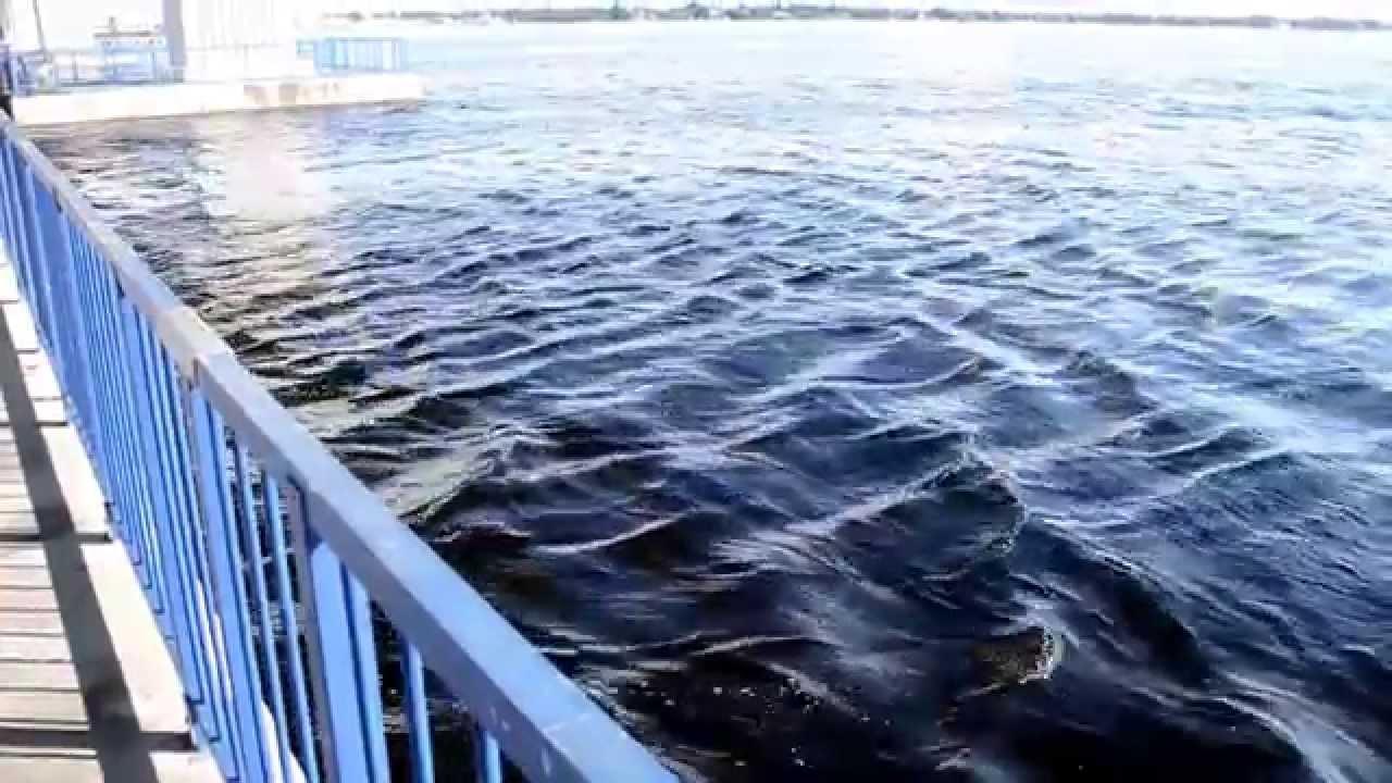 Roosevelt Bridge Stuart Fl King Tide Rushing Upriver Youtube