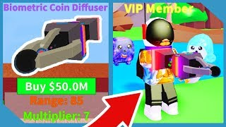Buying The Biometric Coin Diffuser In Roblox Vacuum Simulator