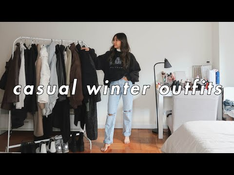 CASUAL WINTER OUTFITS 🤍   winter fashion lookbook 2020