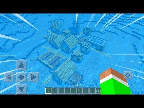 UNDERWATER VILLAGE in Minecraft Pocket Edition!