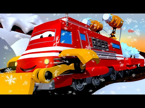 Il TRENO SPARANEVE gareggia contro Lord Byron e Tina! - Troy il Treno a Train Town 🚉