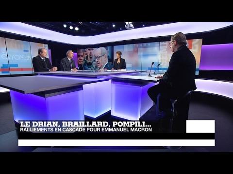 Présidentielle en France : ralliements en cascade pour Macron
