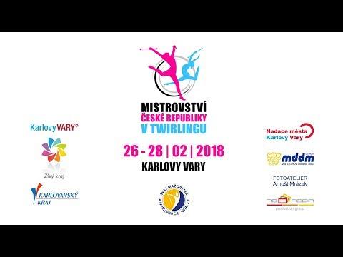 Twirling CZ – MČR Karlovy Vary 2018 - Finálový den - Sólo s hůlkou třída A, DUO