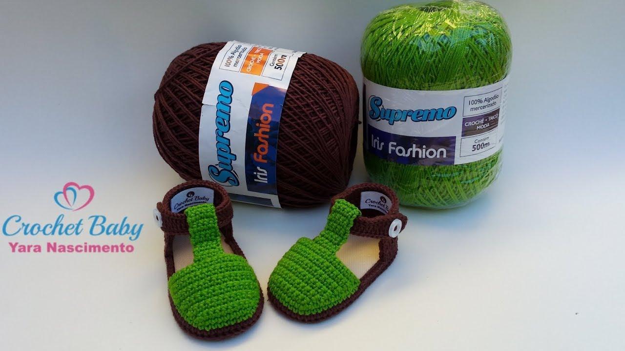 27f87f7230 Sapatinho DANI de Crochê - Tamanho 09 cm - Crochet Baby Yara ...