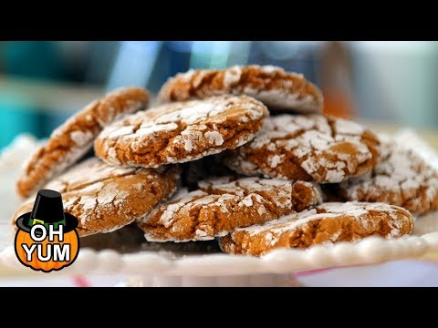 Gingerbread Crinkle Cookies Recipe | The Perfect Thanksgiving