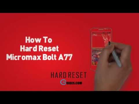 HArd Reset Micromax A77 AND Pattern Lock Solution