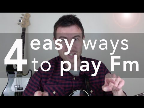The Fm Chord For Beginners (3 SUPER-EASY F Minor Chord Shapes)