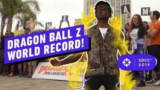 DragonBall Z Fans Break Kamehameha World Record - Comic Con 2019