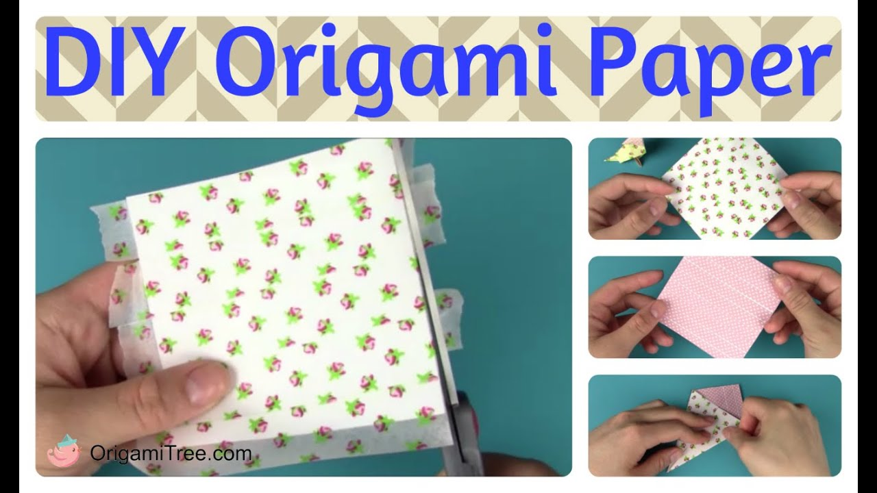 Double sided craft paper - Washi Tape Craft How To Make Your Own Origami Paper Double Sided Origami Paper Craft