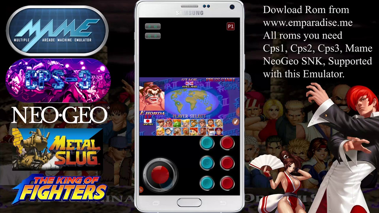 [Fba4Droid] Android Emulator | Play multi Arcade MAME, Cps1,2,3, NeoGeo  games on android Devices