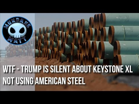 [News] WTF - Trump is silent about Keystone XL not using American Steel