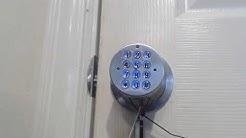 How To Operate Digital Electronic Code Door Lock Turbolock YL-99 Round Knob Demo