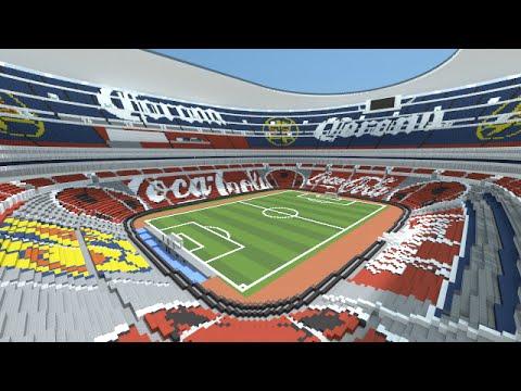 Minecraft - MEGABUILD - Estadio Azteca (Mexico) + DOWNLOAD [Official]