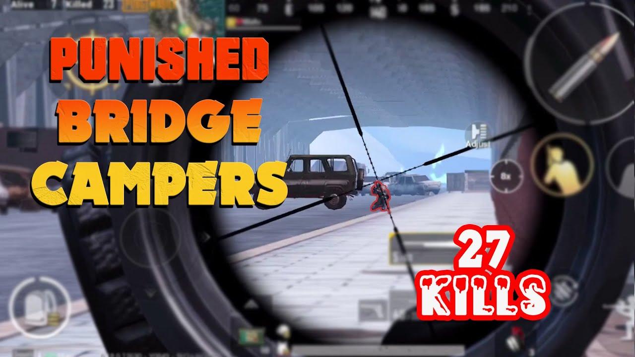 PUNISHED BRIDGE CAMPERS!! | 27 KILLS 1v4 Gameplay